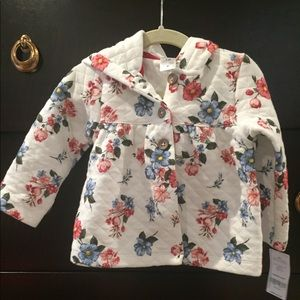 Adorable floral quilted jacket